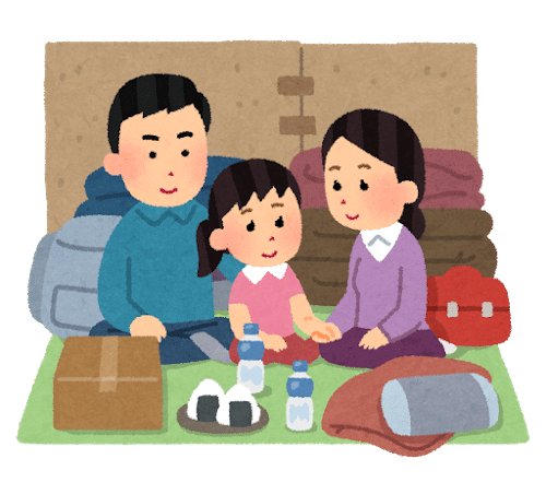 Hinanjo seikatsu family smile